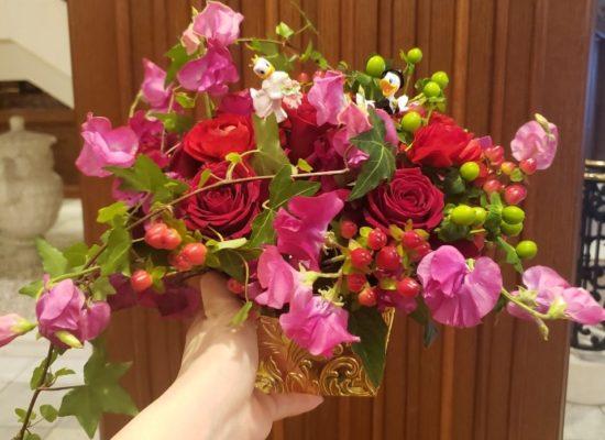 結婚式の卓上花